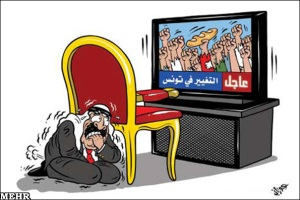 Arab rulers' fear of Tunisians revolution.