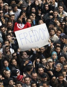 Tunisans want an independent government gifts them the FREEDOM