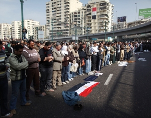 Egyptians protest